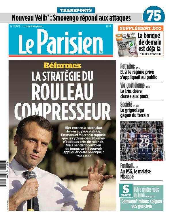 Le Parisien Du Lundi 12 Mars 2018