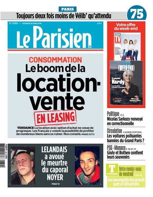 Le Parisien Du Vendredi 30 Mars 2018