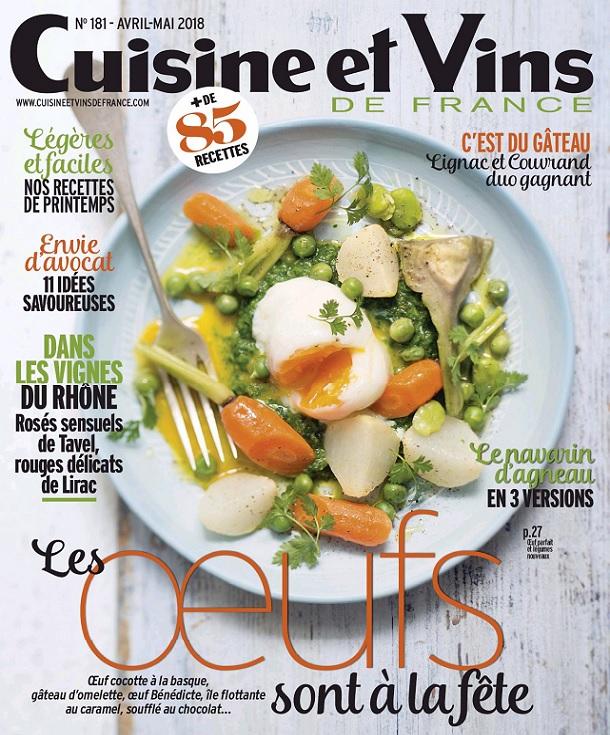 Cuisine et Vins De France N°181 - Avril-Mai 2018