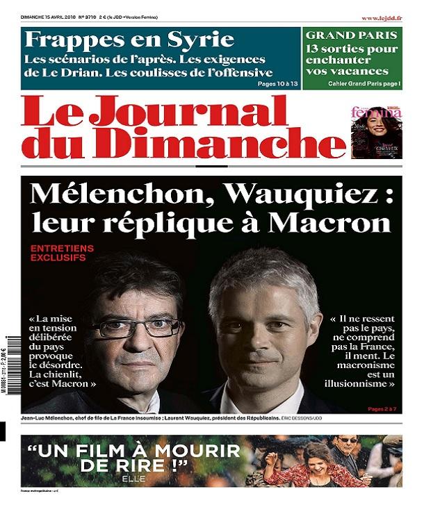 Le Journal Du Dimanche N°3718 Du 15 Avril 2018