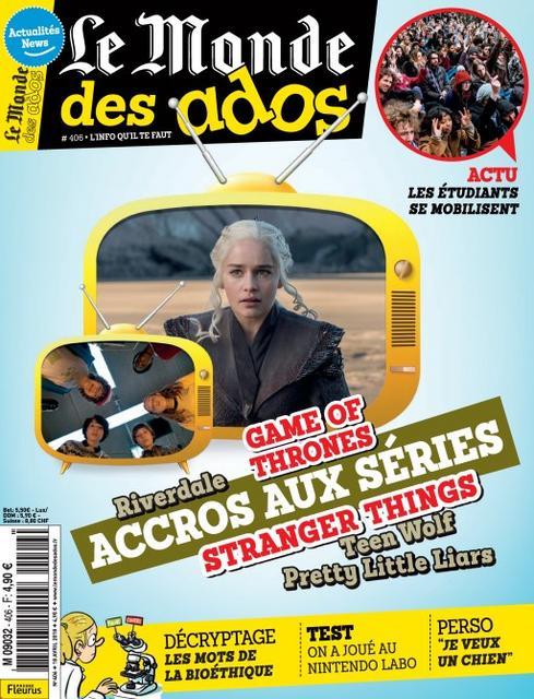 Le Monde Des Ados N°406 Du 18 Avril 2018