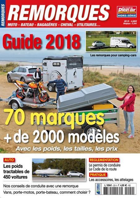 Le Monde Du Plein Air Hors Série Remorques N°20 – Mai 2018