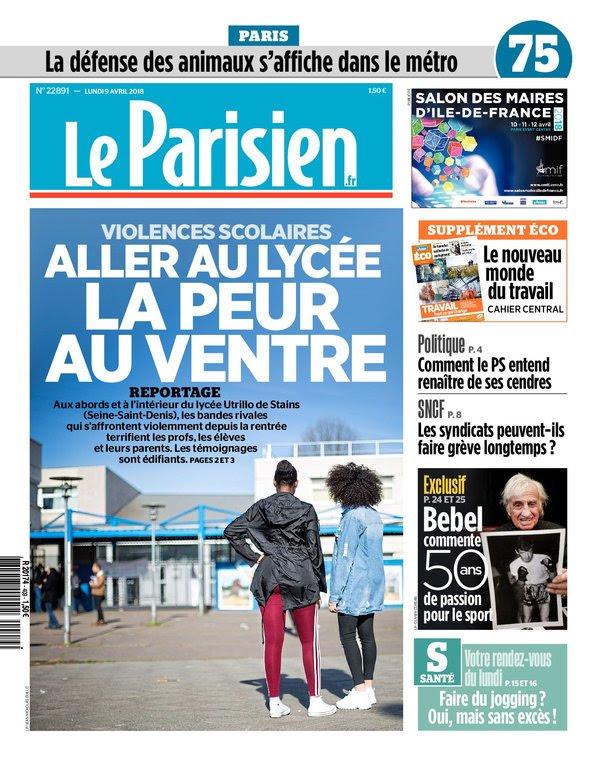 Le Parisien Du Lundi 9 Avril 2018