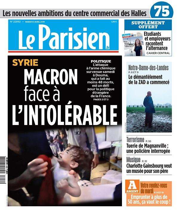 Le Parisien Du Mardi 10 Avril 2018