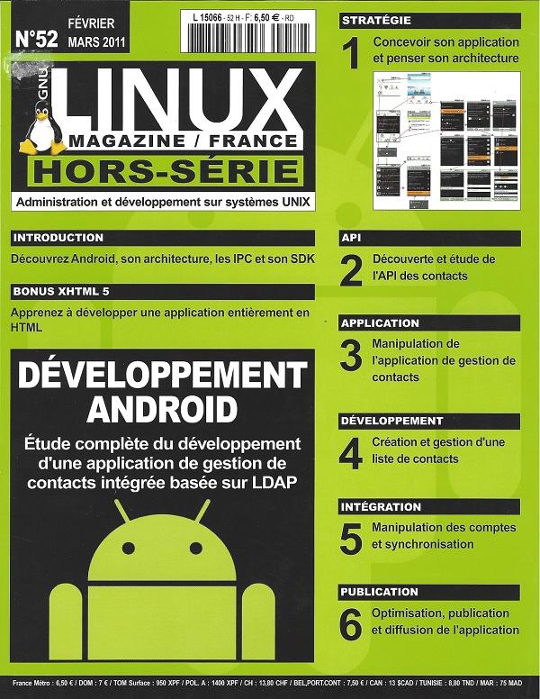 GNU/Linux Magazine Hors Série N°52 - Développement Android