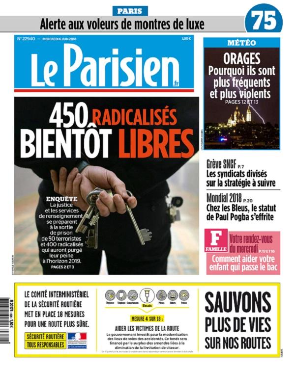 Le Parisien Du Mercredi 6 Juin 2018