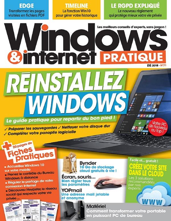 Windows et Internet Pratique N°71 – Été 2018