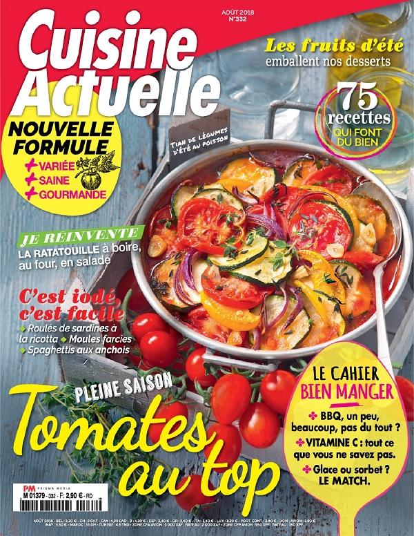 Cuisine Actuelle N°332 – Août 2018
