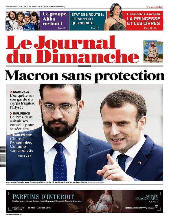 Le Journal Du Dimanche N°3732 Du 22 Juillet 2018