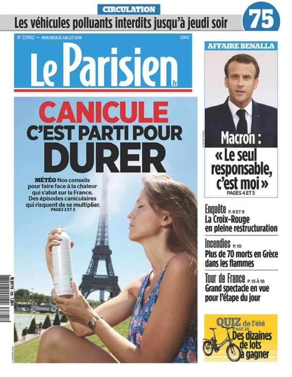 Le Parisien Du Mercredi 25 Juillet 2018