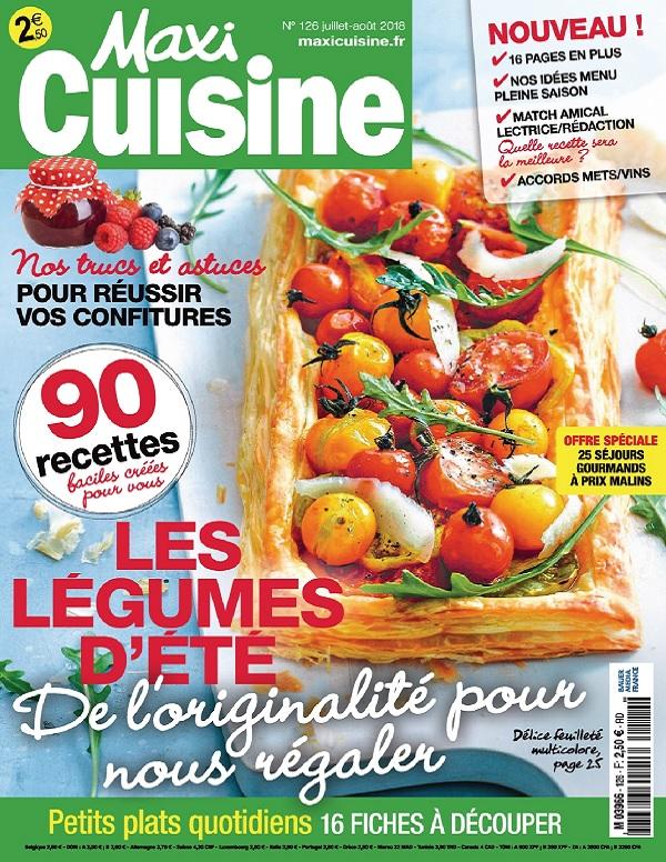 Maxi Cuisine N°126 – Juillet-Août 2018