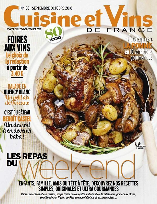 Cuisine et Vins de France N°183 – Septembre-Octobre 2018