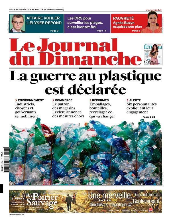 Le Journal Du Dimanche N°3735 Du 12 Août 2018