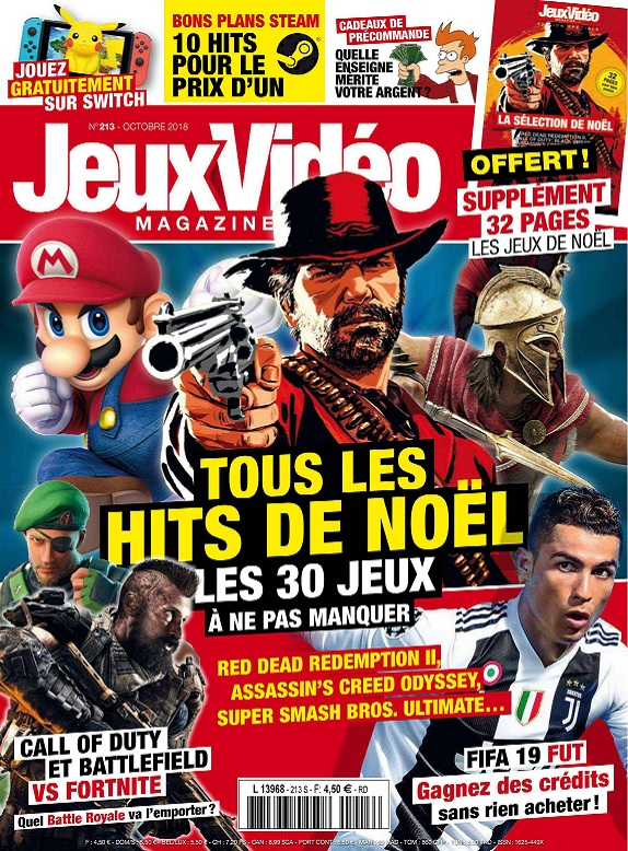 Jeux Vidéo Magazine N°213 – Octobre 2018