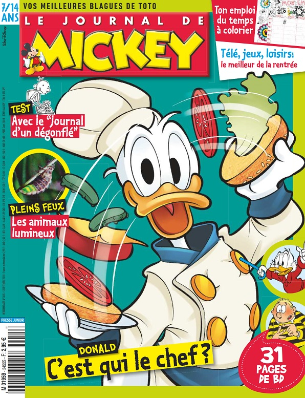 Le Journal De Mickey N°3455 Du 5 Septembre 2018
