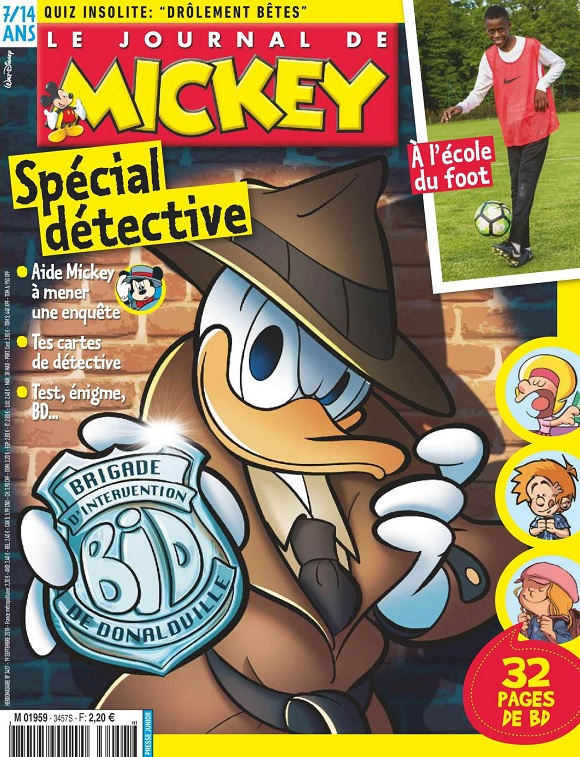 Le Journal De Mickey N°3457 Du 19 Septembre 2018