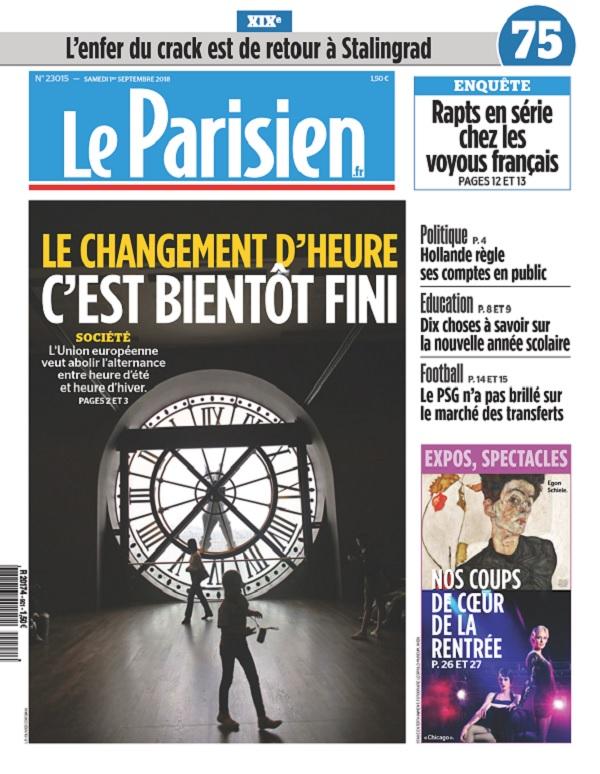 Le Parisien Du Samedi 1er Septembre 2018