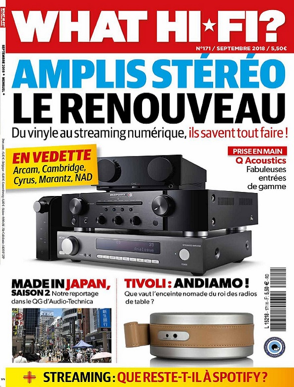 What Hi-Fi N°171 – Septembre 2018