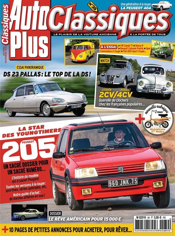 Auto Plus Classiques N°39 – Octobre-Novembre 2018