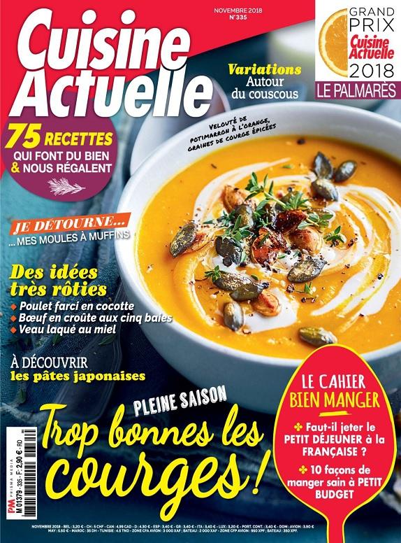 Cuisine Actuelle N°335 – Novembre 2018