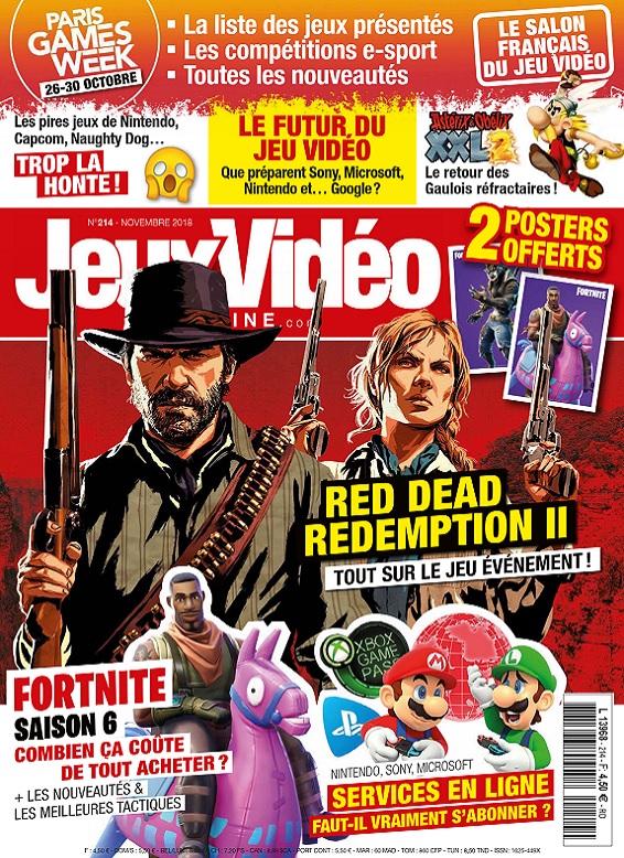 Jeux Vidéo Magazine N°214 – Novembre 2018