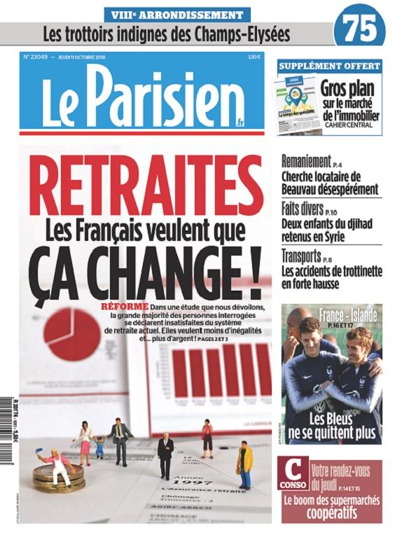 Le Parisien Du Jeudi 11 Octobre 2018