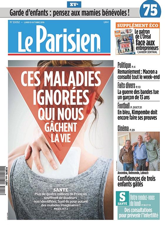 Le Parisien Du Lundi 15 Octobre 2018