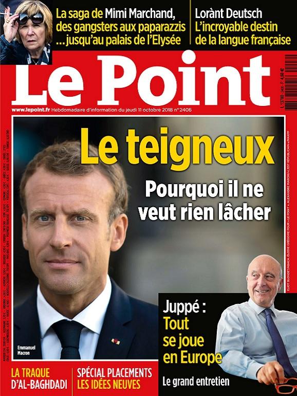 Le Point N°2406 Du 11 Octobre 2018