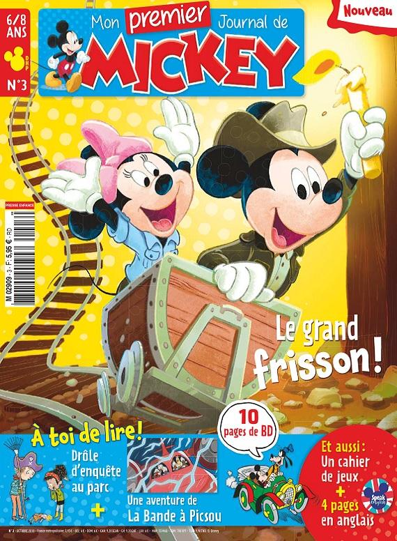 Mon Premier Journal De Mickey N°3 – Octobre 2018