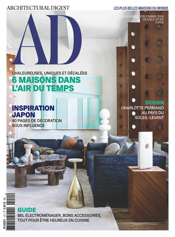 AD Architectural Digest N°151 – Novembre-Décembre 2018