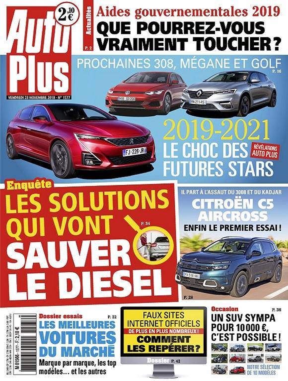 Auto Plus N°1577 Du 23 Novembre 2018