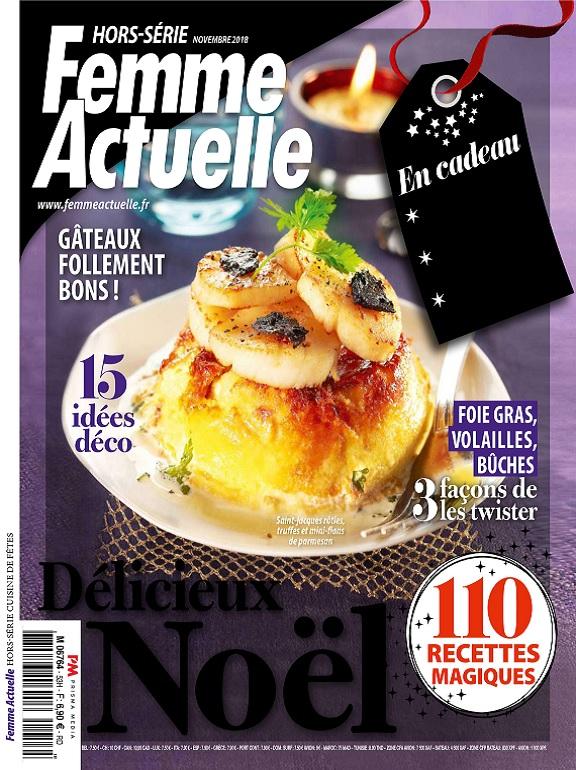 Femme Actuelle Hors Série Cuisine de Fêtes N°53 – Novembre 2018
