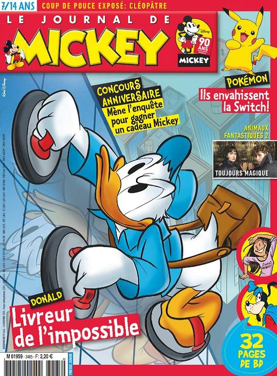 Le Journal De Mickey N°3465 Du 14 Novembre 2018