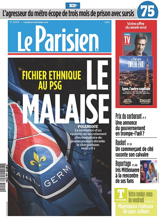 Le Parisien Du Vendredi 9 Novembre 2018