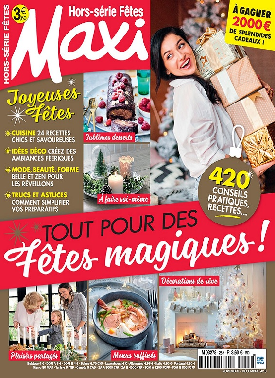 Maxi Hors Série Fêtes N°26 – Novembre-Décembre 2018