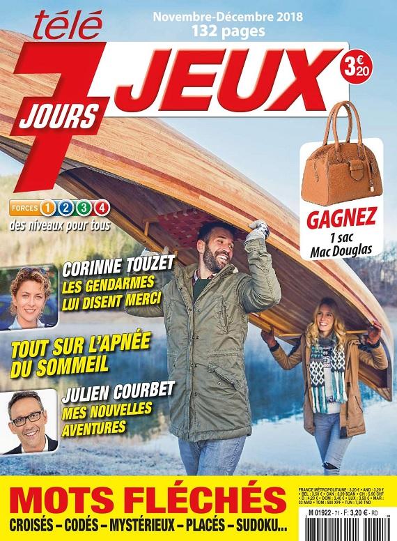 Télé 7 Jours Jeux N°71 – Novembre-Décembre 2018