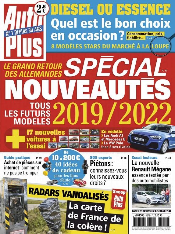 Auto Plus N°1579 Du 7 Décembre 2018