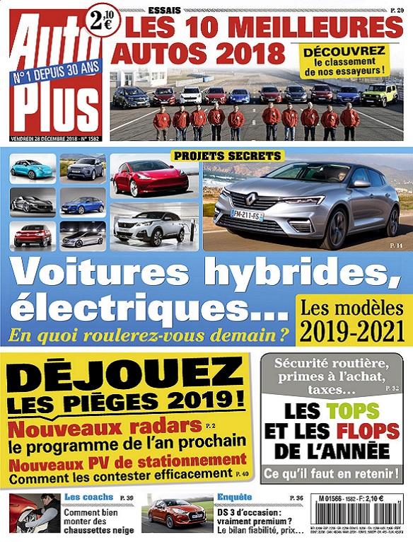 Auto Plus N°1582 Du 28 Décembre 2018