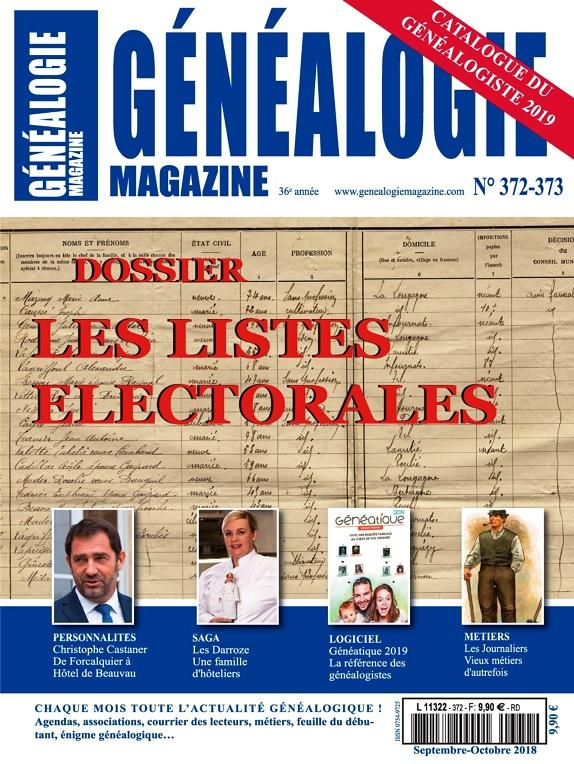 Généalogie Hors Série N°372-373 - Septembre-Octobre 2018
