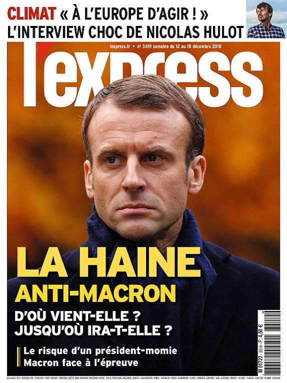 L'Express N°3519 Du 12 au 18 Décembre 2018