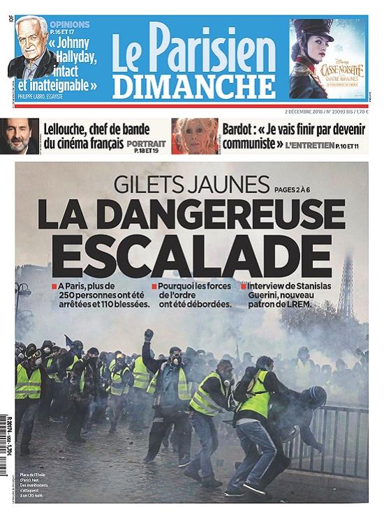Le Parisien Du Dimanche 2 Décembre 2018