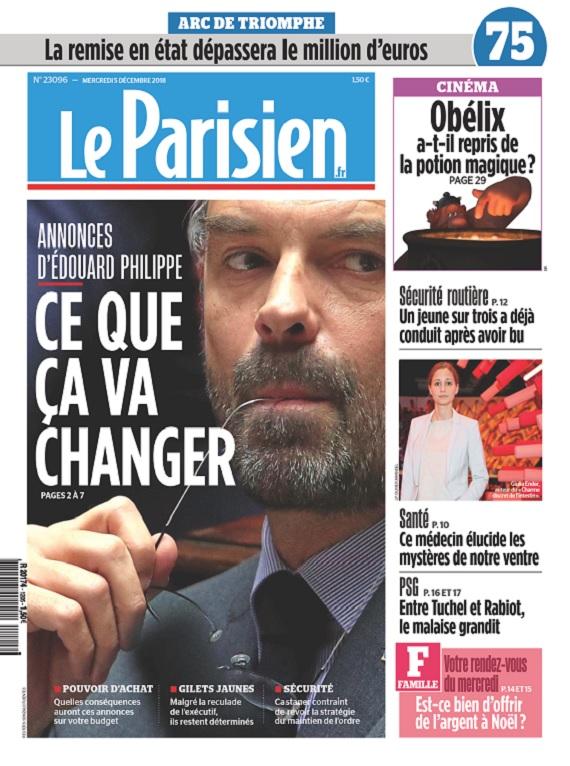 Le Parisien Du Mercredi 5 Décembre 2018