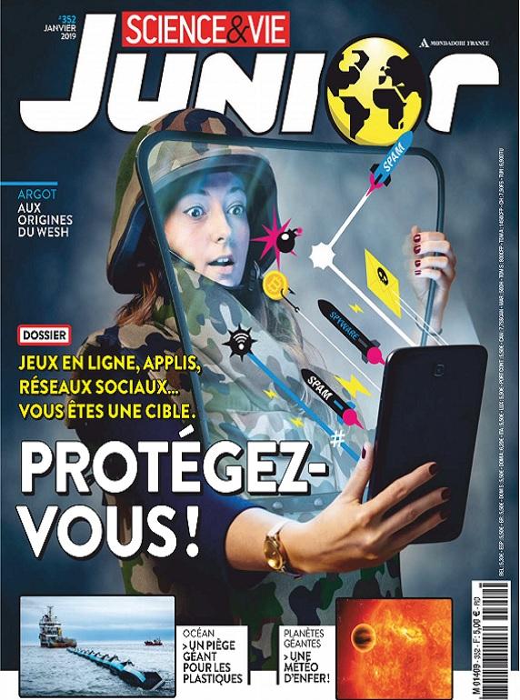 Science et Vie Junior N°352 – Janvier 2019