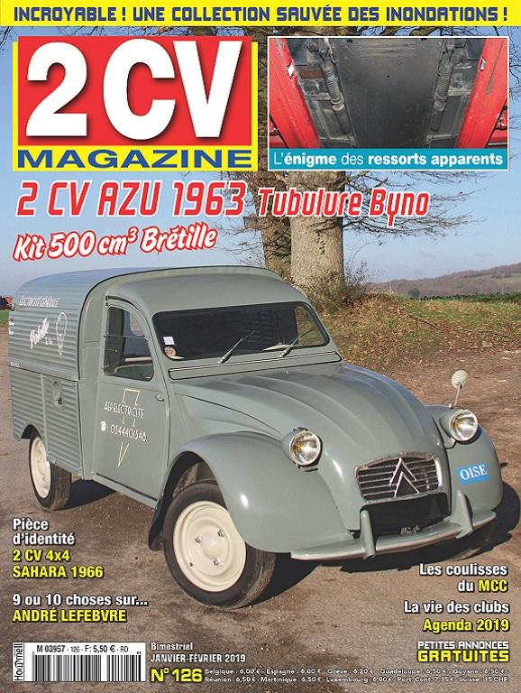 2CV Magazine N°126 – Janvier-Février 2019