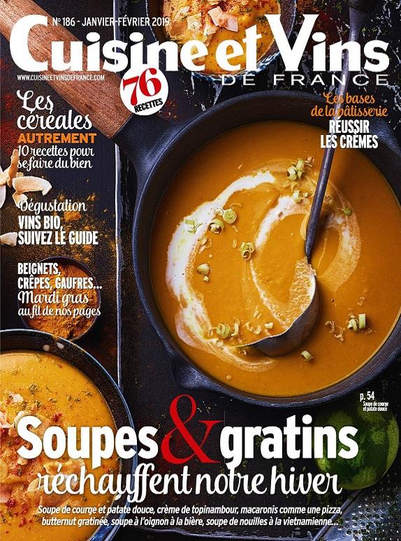 Cuisine et Vins de France N°186 – Janvier-Février 2019