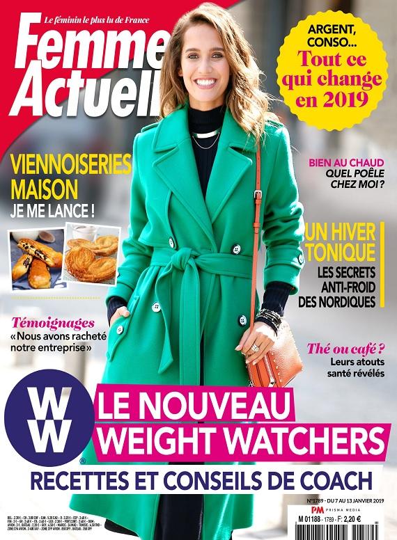 Femme Actuelle N°1789 Du 7 au 13 Janvier 2019
