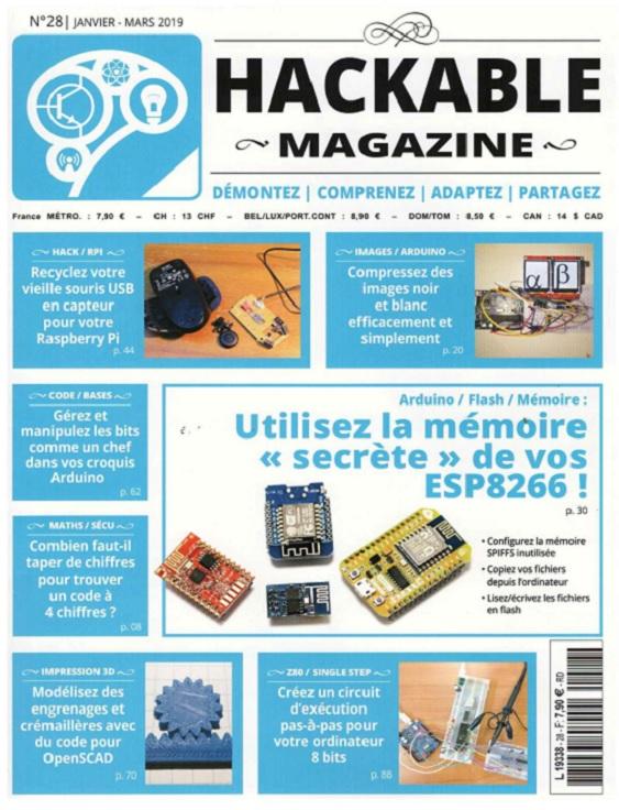 Hackable Magazine N°28 – Janvier-Mars 2019