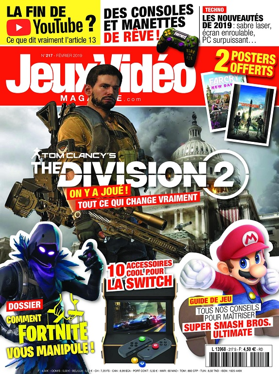 Jeux Vidéo Magazine N°217 – Février 2019