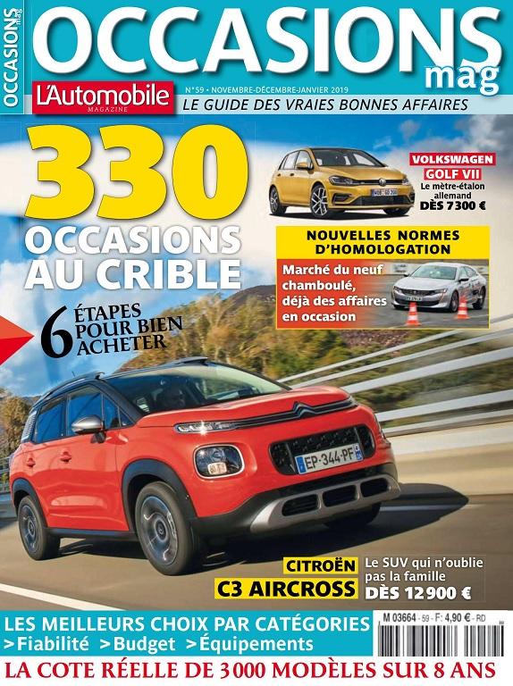 L'Automobile Occasions Mag N°59 – Novembre 2018-Janvier 2019
