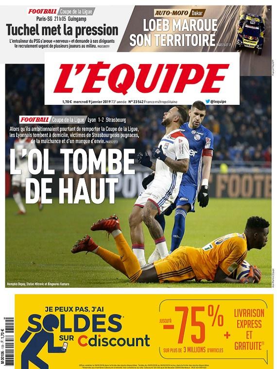 L'Equipe Du Mercredi 9 Janvier 2019